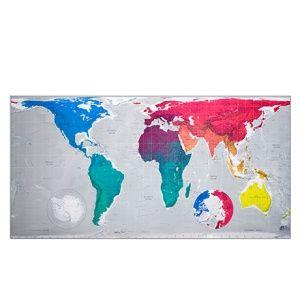 Bunte Weltkarte - Papier