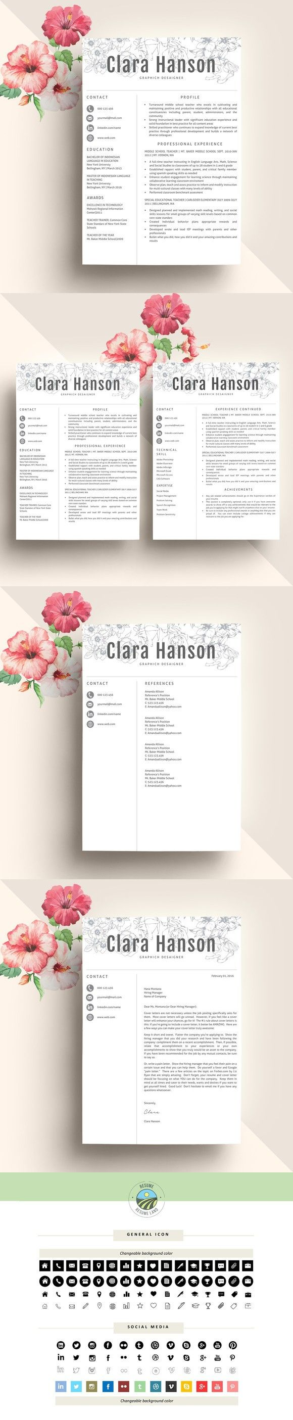 Creative Resume Template CV | resume | Pinterest | Currículum ...