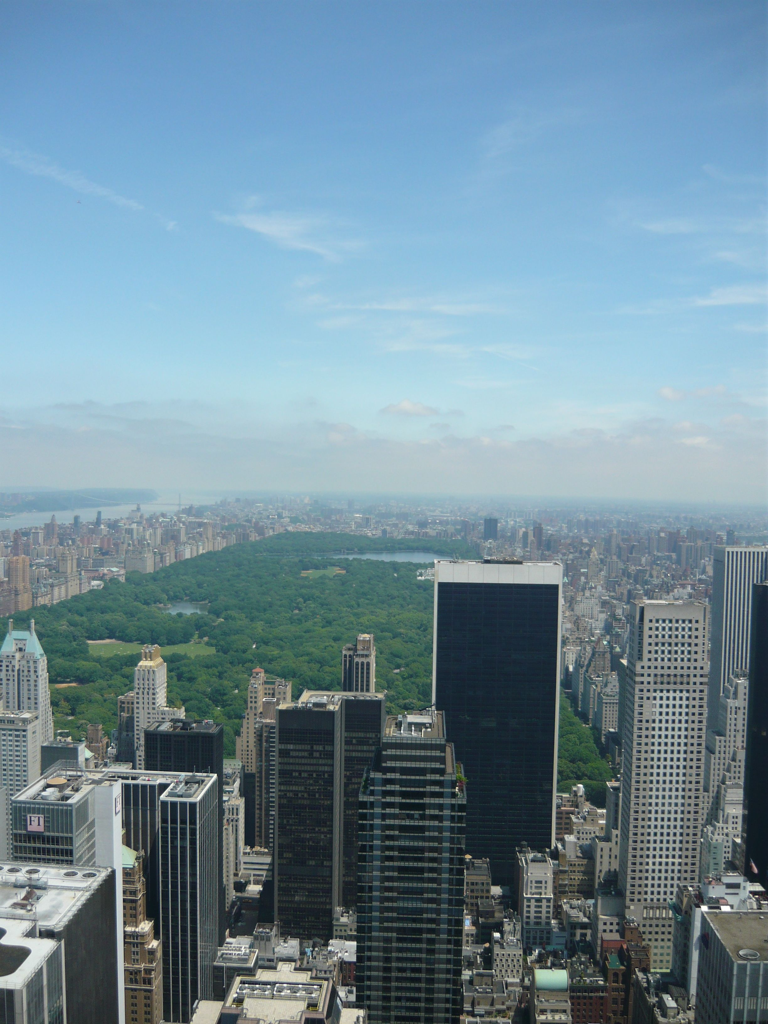 Uptown Manhattan And Central Park View From 30 Rock Central Park View San Francisco Skyline York City
