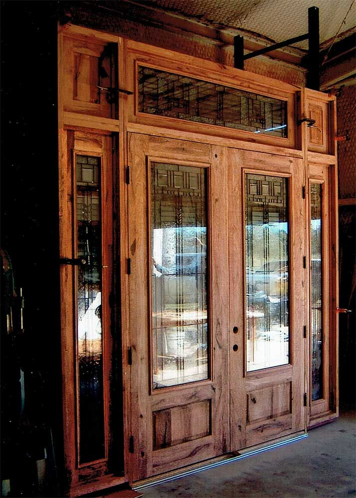 Mesquite Wood Door Created By Hahn Amp Hahn Sawmill And Woodworking In The Austin Area