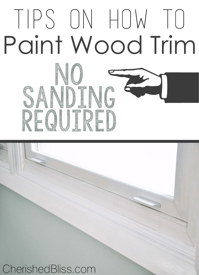 Tips on How to Paint Wood Trim | Woods, House and Paintings