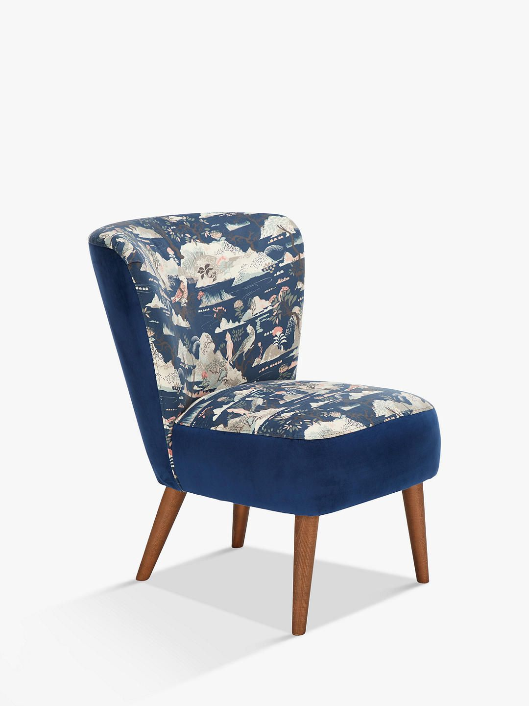 John Lewis Partners Audrey Accent Chair Dark Leg Haku Print In