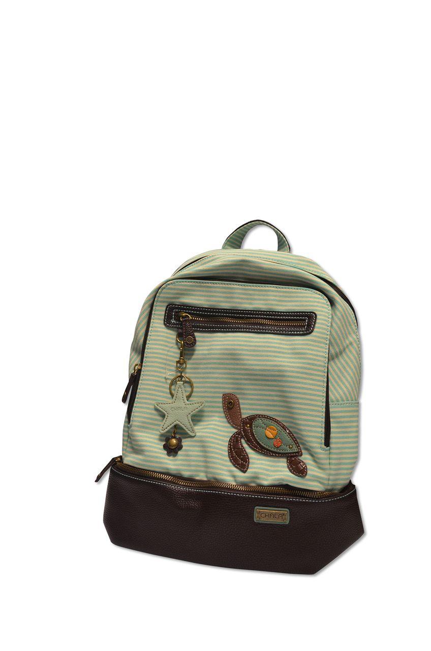 a6435344a8a Stripe Backpack Turtle - Teal - loggerhead