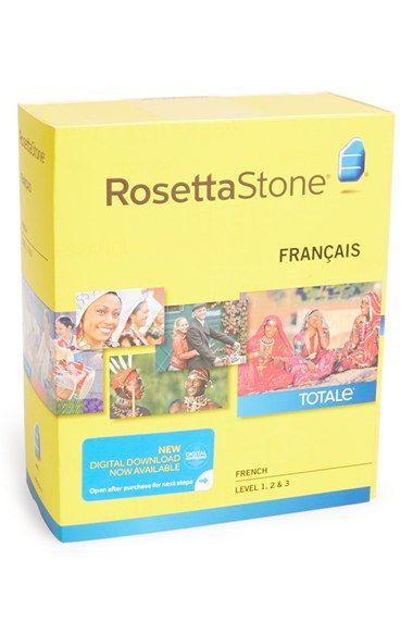 Rosetta Stone French Level 1-3 Interactive Language Learning Software - Yellow