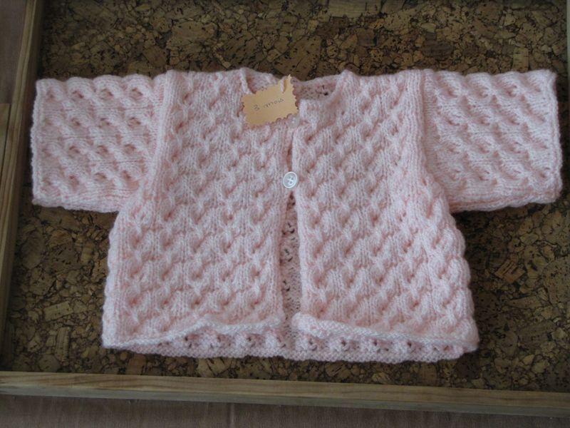 point fantaisie tricot pour layette