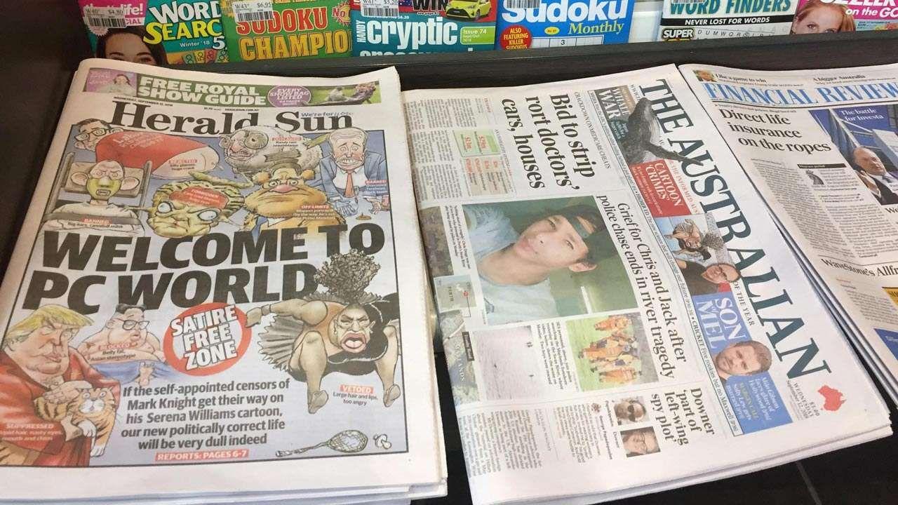 Defying criticism, Australian newspaper reprints Serena