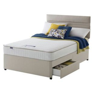 low priced d82cd e4b6f Buy Silentnight Stroud Memory Small Double 2 Drawer Divan ...