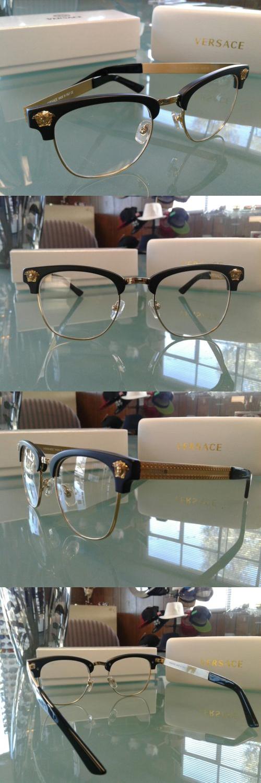 7520847febdd Fashion Eyewear Clear Glasses 179240: Versace Ve 2172 S Black Gold Rim  Optical Frame Eyeglasses