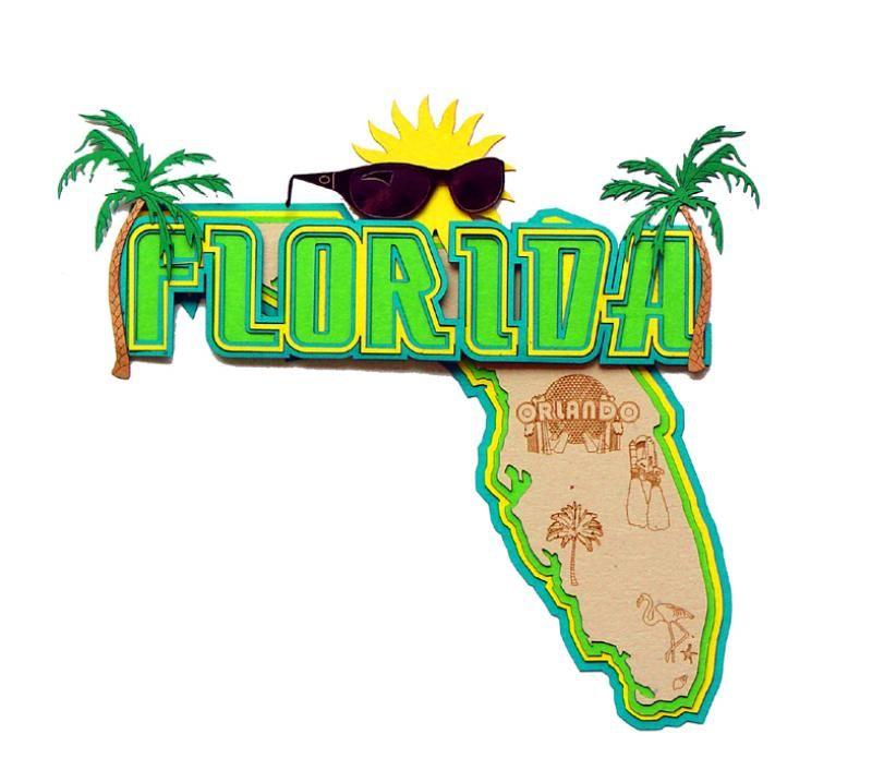 Scrapbook Embellishment Travel Florida Travel