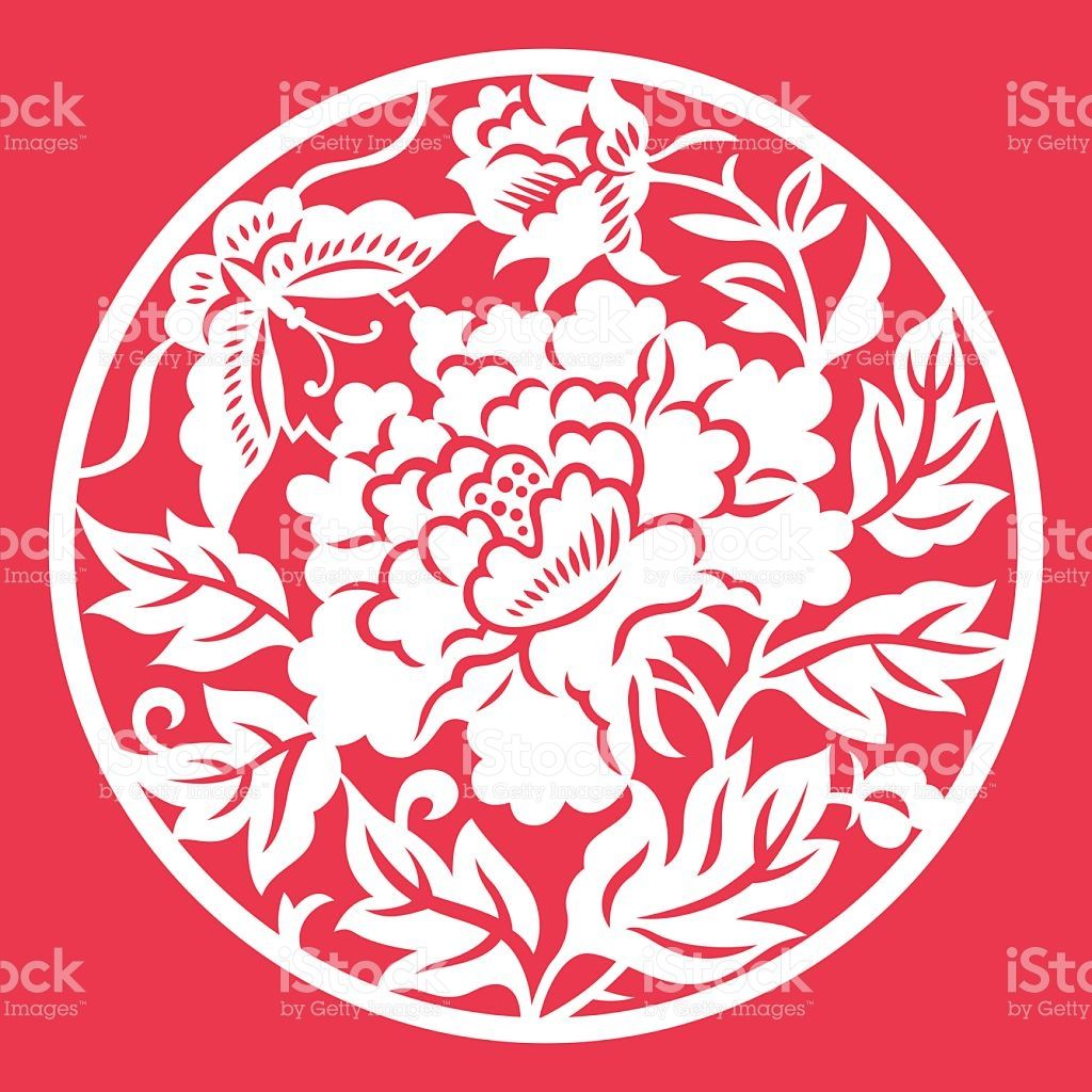 Traditional China Patterns china traditional paper-cut art(floral pattern) stock vector art