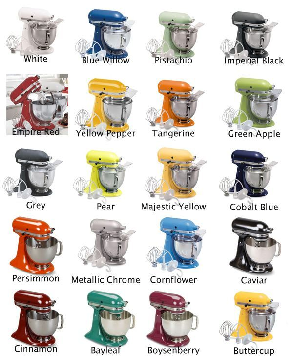 Image result for kitchenaid mixer colors for the home