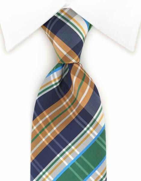This colorful plaid necktie will make a huge statement!