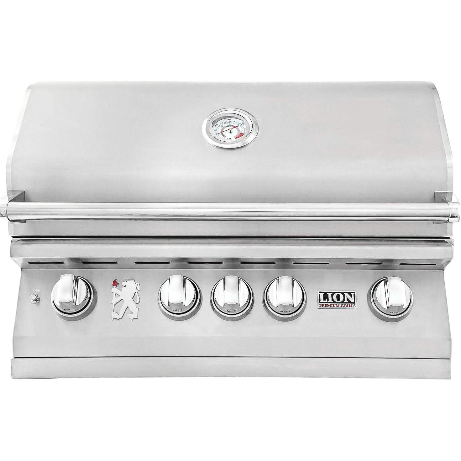 Lion L75000 32 Inch Stainless Steel Built In Propane Gas Grill Outdoor Kitchen Design Built In Gas Grills Grilling