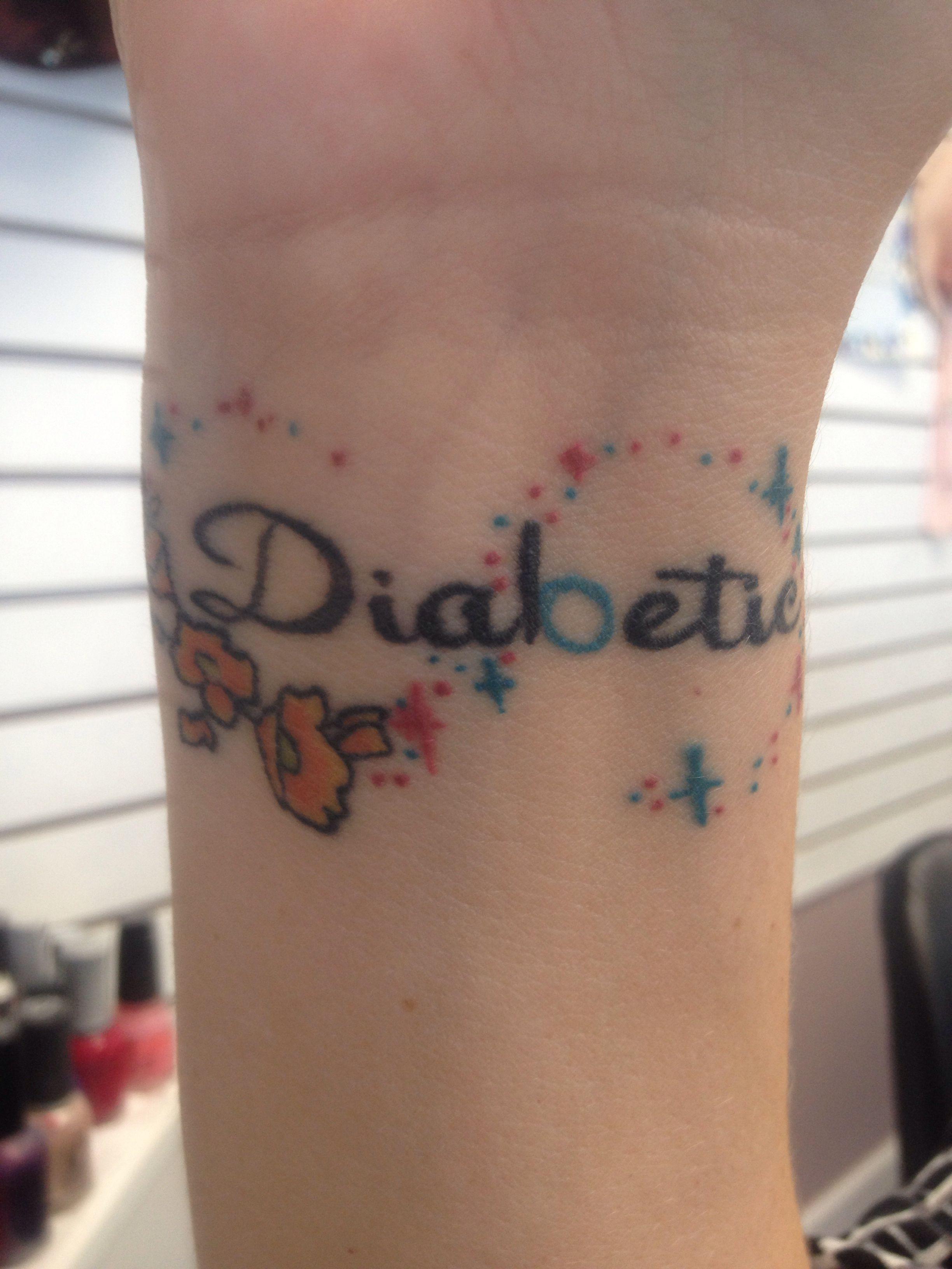 Diabetic tat diabetes tattoo medical alert tattoo tattoos