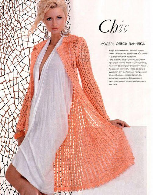 Patrones para Crochet: Tejer un Abrigo Primavera con una Regla ...