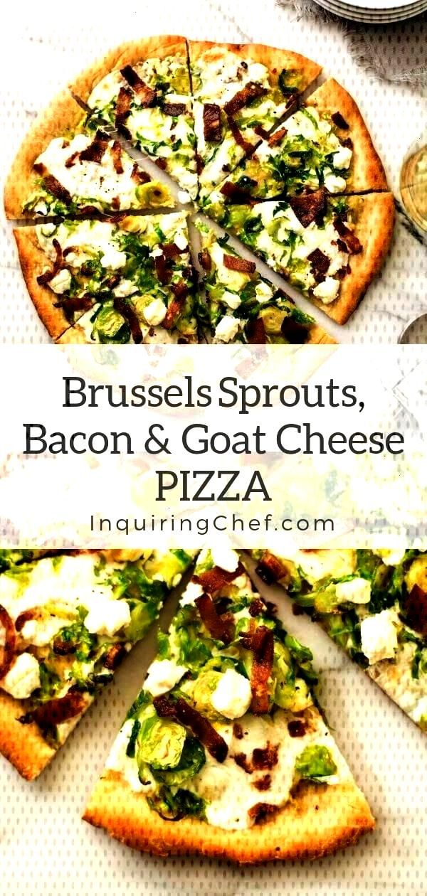 Bacon, and Goat Cheese Pizza Brussels Sprouts, Bacon, and Goat Cheese Pizza - -Brussels Sprouts, B