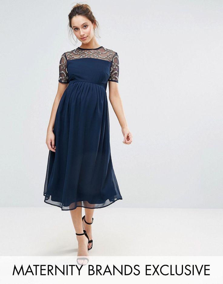 Navy maternity dress | CUTE PREGNANCY OUTFITS | Pinterest ...