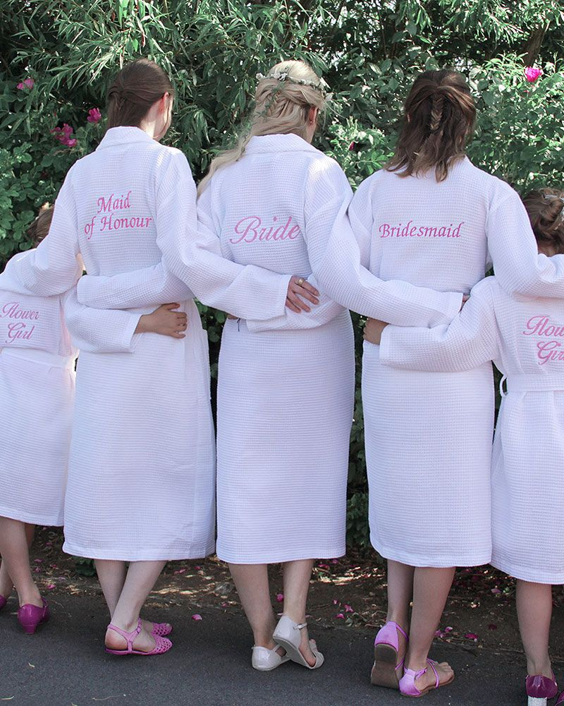 Personalised Bridal Party Party Dressing Gowns. Perfect to wear in ...