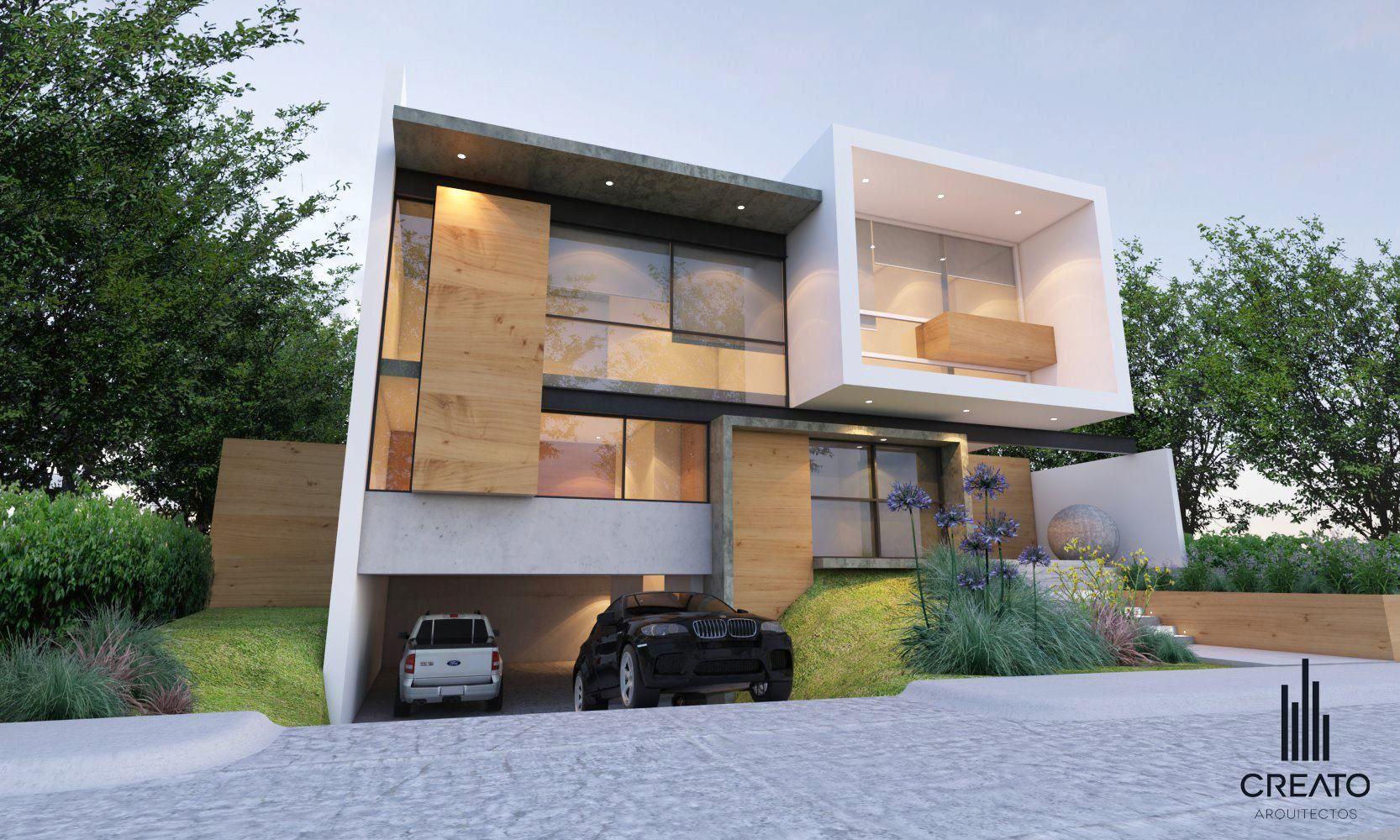 Fachadas creato arquitectos bosque fachadas casas modernas y arquitectos - Arquitectos casas modernas ...