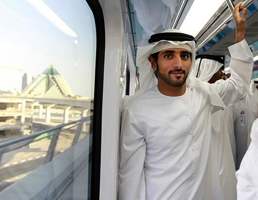 Talk about tall, dark and handsome! Dubai's Crown Prince
