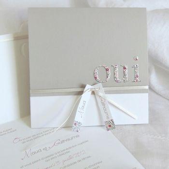 faire part mariage aurore sable et rose poudr ec m052 faire part pinterest mariage. Black Bedroom Furniture Sets. Home Design Ideas
