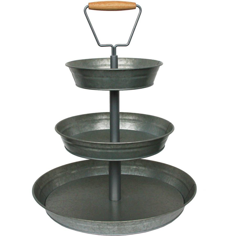 Better Homes And Gardens 3 Tier Galvanized Metal Stand Galvanized Metal Better Homes And Gardens Metal Tiered Stand