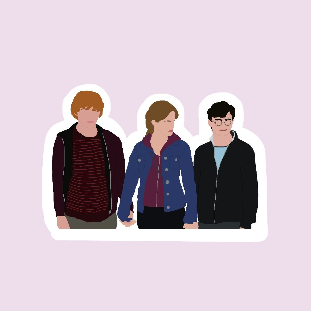 Harry Potter Golden Trio Vinyl Stickers En 2021 Pegatinas De Harry Potter Pegatinas Kawaii Fotos De Perfil Whatsapp