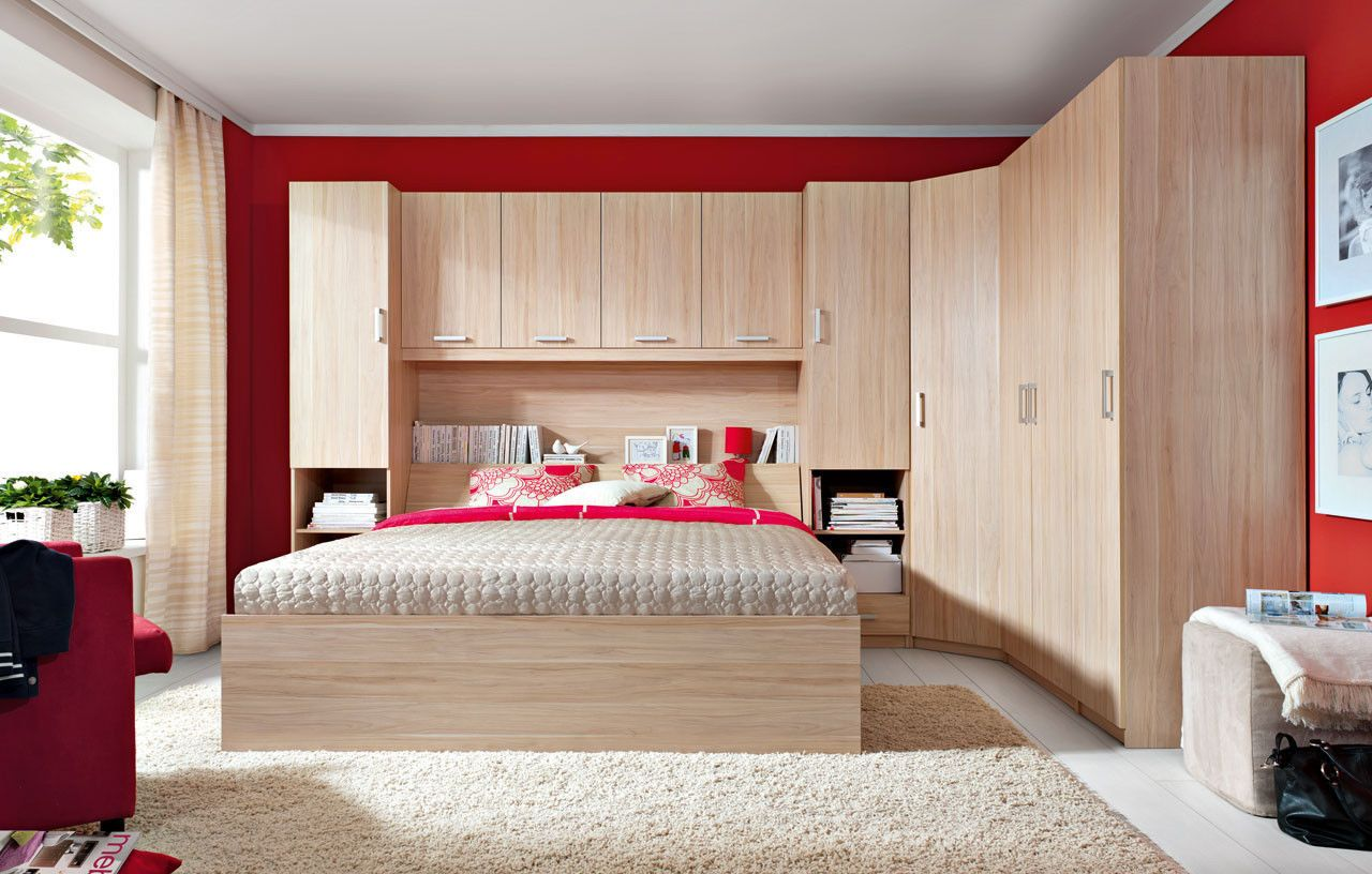Bedroom furniture wardrobes - New King Size Modern Bedroom Furniture Set Over Bed Storage Unit Wardrobes Ebay