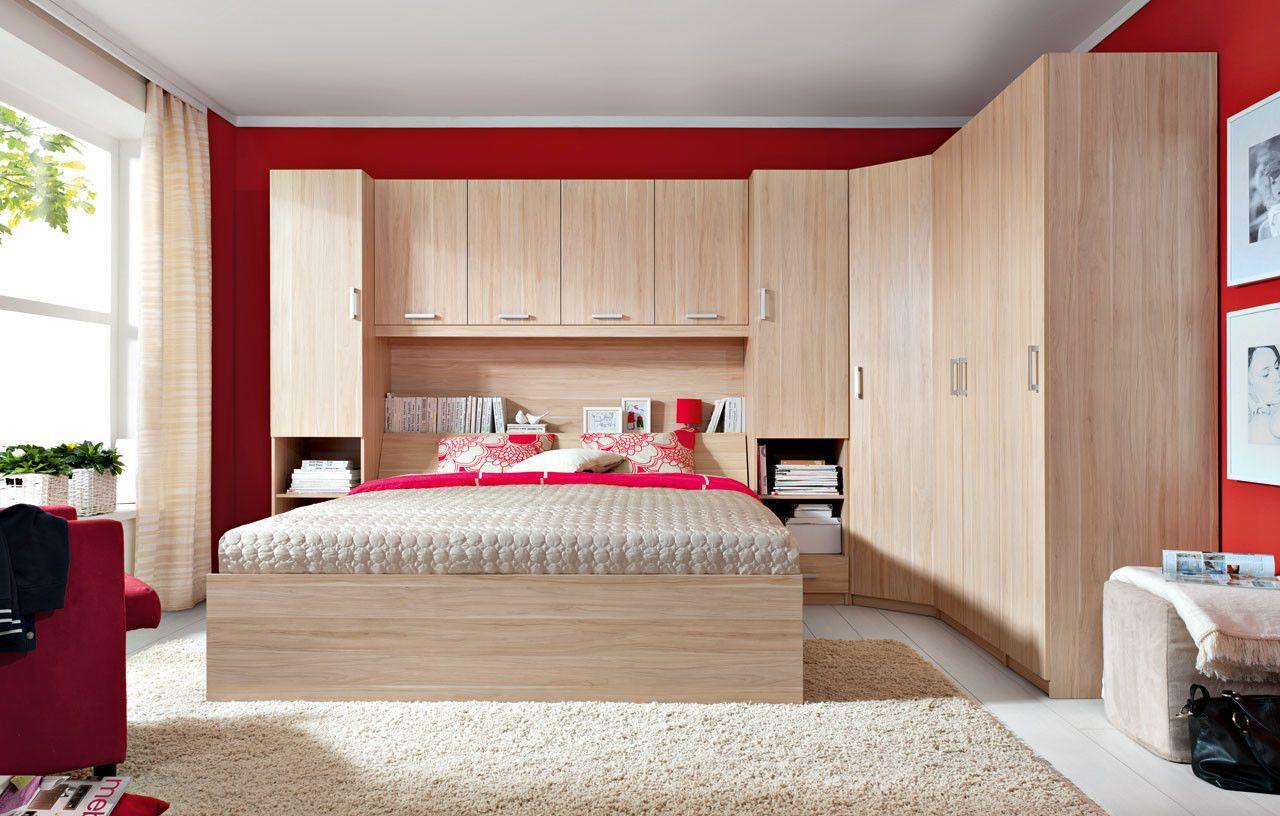 New King Size Modern Bedroom Furniture Set Over Bed Storage Unit Wardrobes Ebay