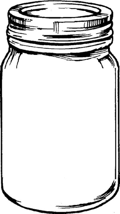 Mason Jar With Flowers Clipart Black And White Mason Jar Clip Art Colored Mason Jars Mason Jars