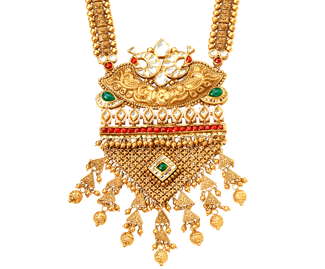 Tanishq Rivaah Glass Kundan 22kt Gold Neckwear Set Jewellery Gold Pendant Jewelry Gold Jewelry Silver Jewelry Gifts