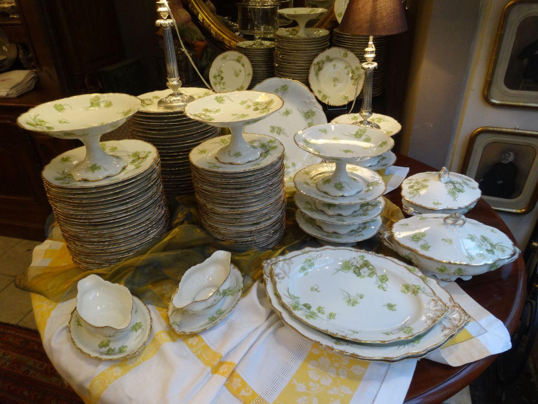 iportant service de tabled 39 epoque 1900 en porcelaine de limoges vaisselle shabby pinterest. Black Bedroom Furniture Sets. Home Design Ideas