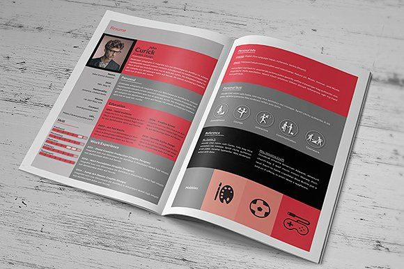 Creative Resume Booklet by scilaverna on @creativemarket - booklet template