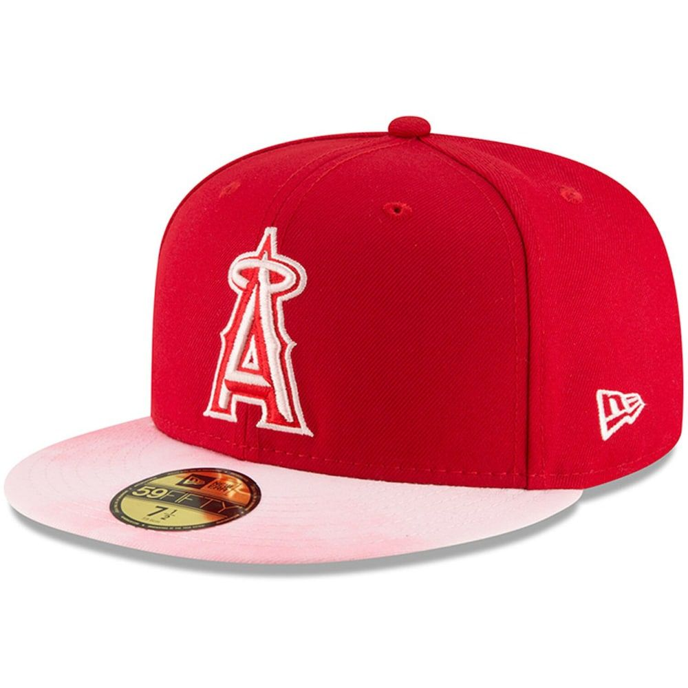 factory outlets detailed look 2018 shoes Los Angeles Angels New Era 2019 Mother's Day On-Field 59FIFTY ...