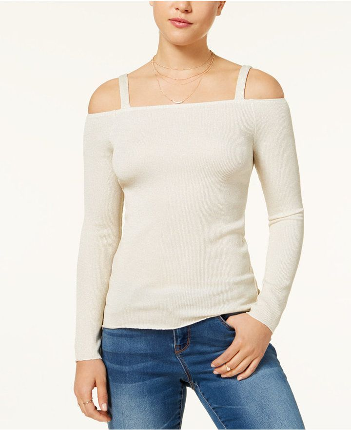59b1cd9dfc391 The Edit by Seventeen Juniors  Shine Off-The-Shoulder Sweater ...