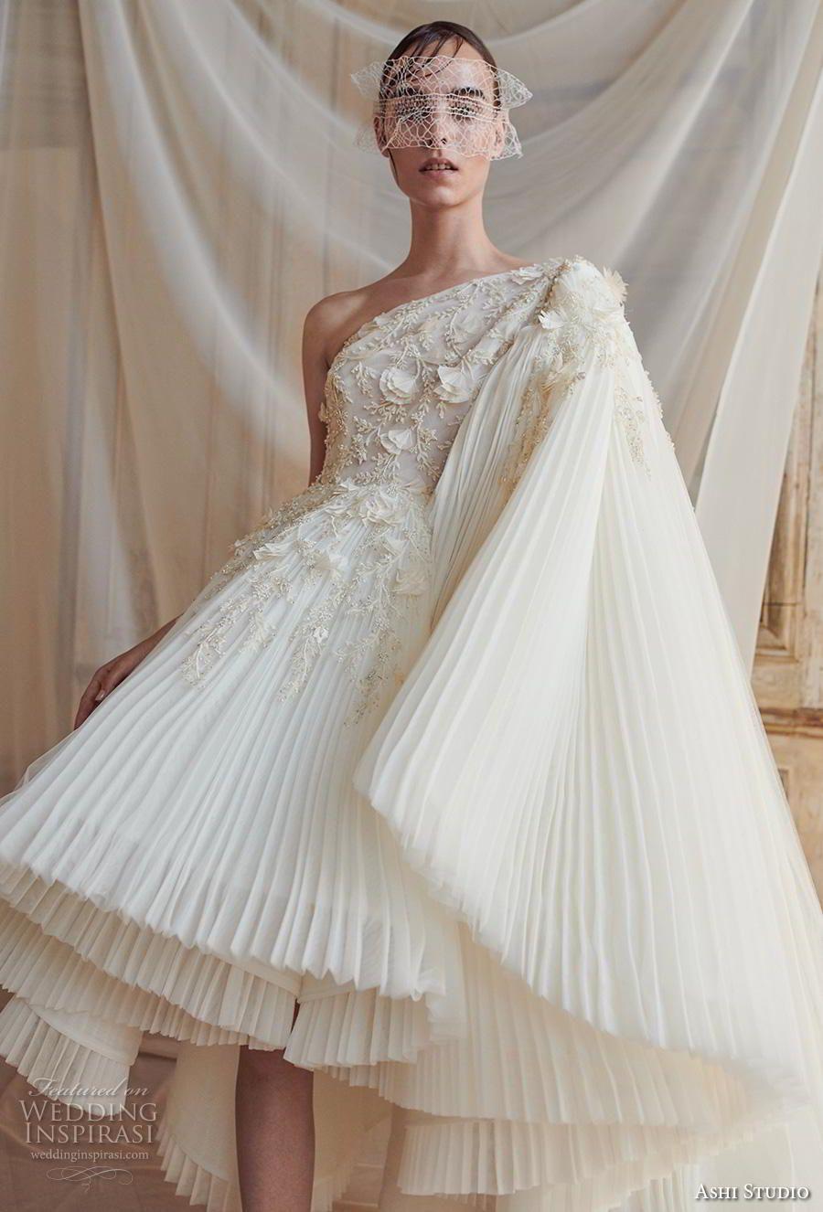 Ashi Studio Fall Winter 2018 2019 Couture Collection Wedding Inspirasi Short Wedding Dress Bridal Couture Bridal Dresses