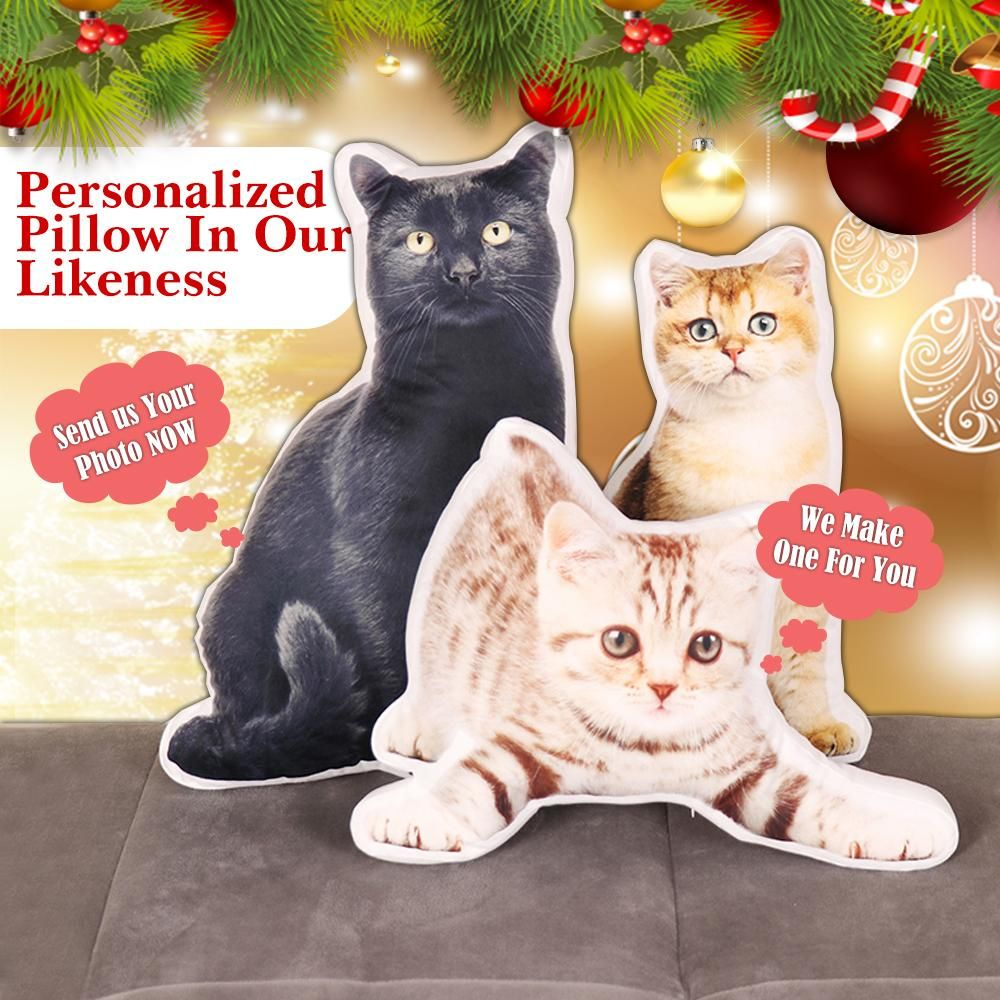 Custom Pet Photo Pillow Best Christmas Gift Pet photo