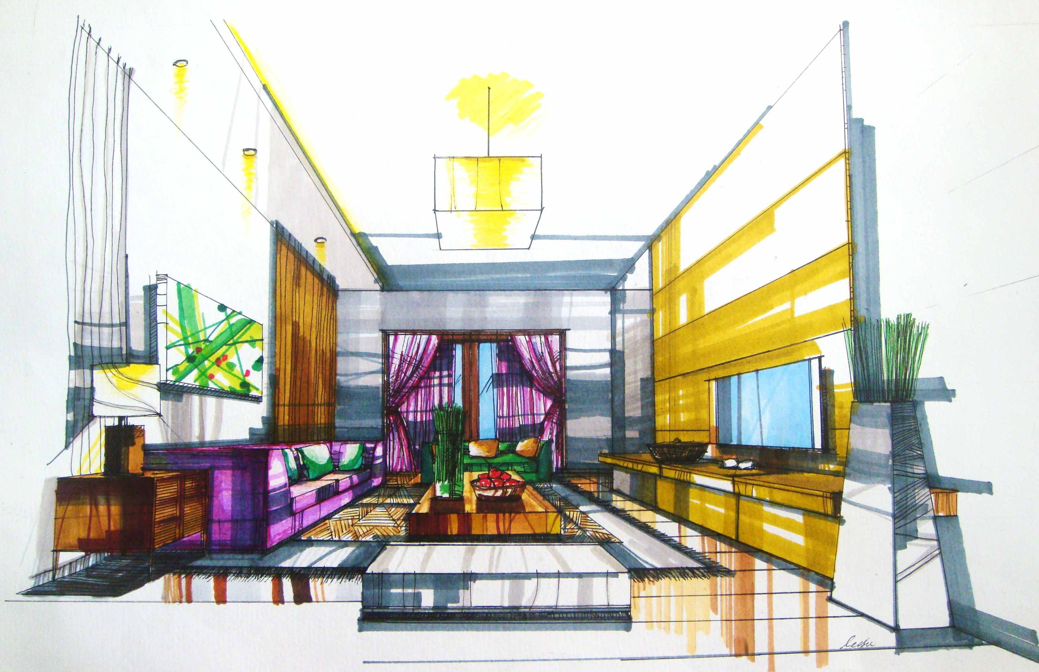 Copic Marker Architecture Google Search With Images Interior