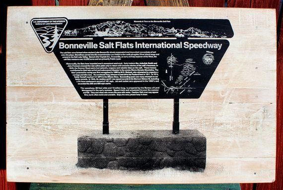 Bonneville Salt Flats International Speedway Sign by CryptobioticDesigns on Etsy