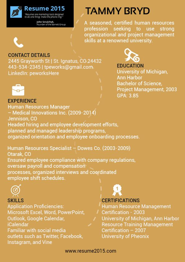 Excellent-Manager-Resume-Samples-2015jpg (595×842) John Resume - human resource resume template