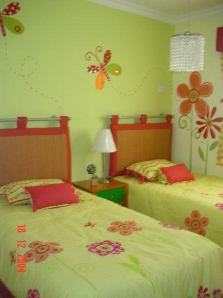 Decoracion dise o y pintura en muros recamara de ni as for Habitaciones para ninas de 7 anos