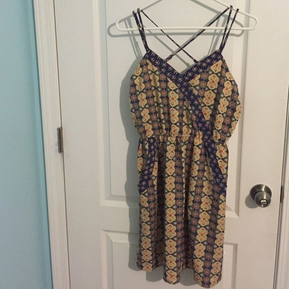 Brand New Strappy Dress Never used. Doesn't fit my bust correctly. Xhilaration Dresses Mini