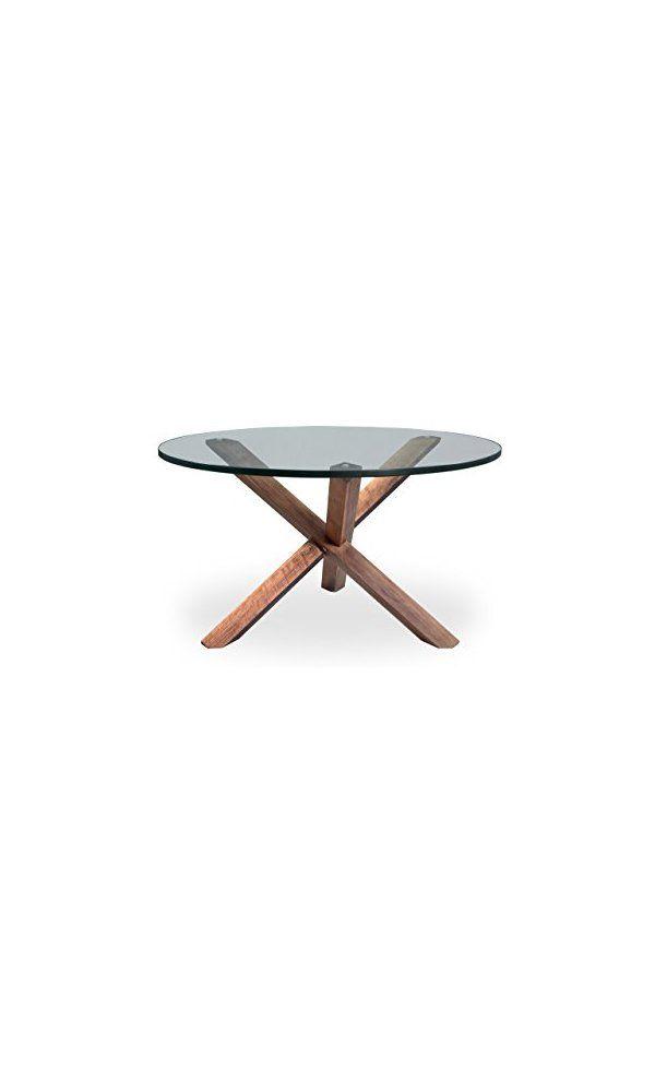 Karl Tripod Mid Century Modern Coffee Table Walnut Wood Deal Price 291 69