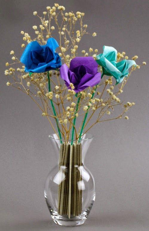 Origami Flowers Begonias New Video Craftorigami Pinterest