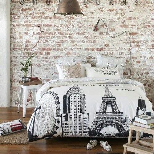 slaapkamer » stenen behang slaapkamer - inspirerende foto's en, Deco ideeën