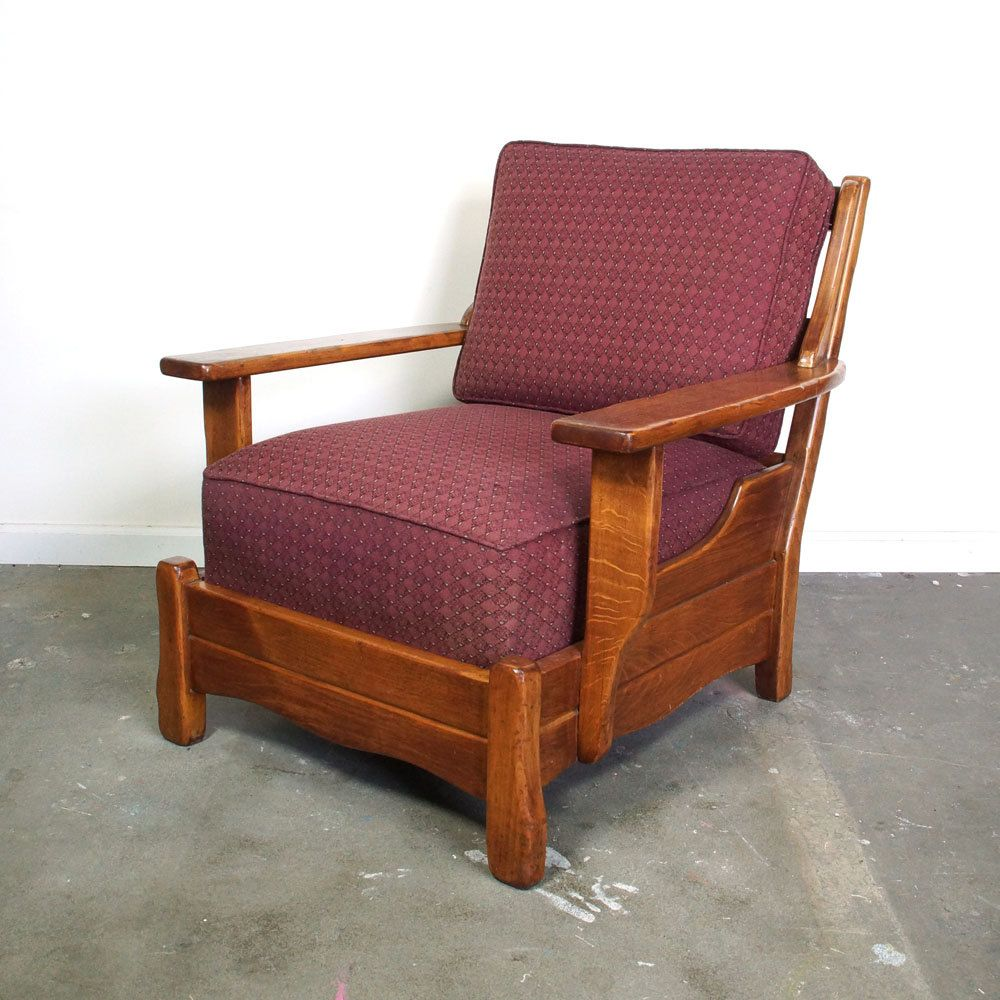 1960s Style Furniture mid century club chair / solid wood rancho style lounge chair