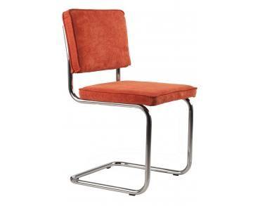 Chaise Ridge Rib de la marque néerlandaise ZUIVER - orange