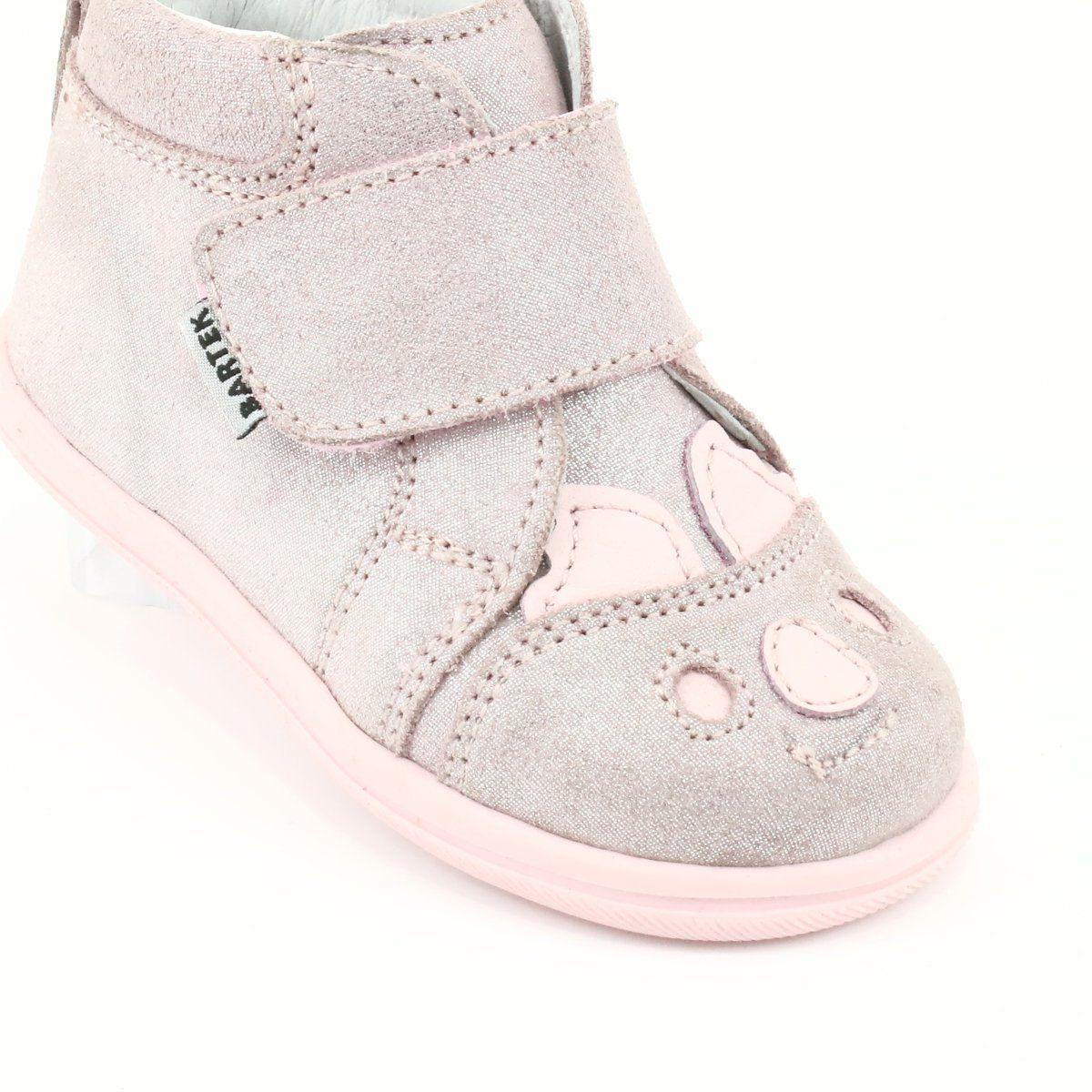 Trzewiki Na Rzepy Koala Bartek 71150 Rozowe Szare High Top Sneakers Wedge Sneaker Shoes