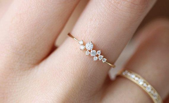 Zierliche Verlobungsring 14k Verlobungsring Von Donatellajewelry