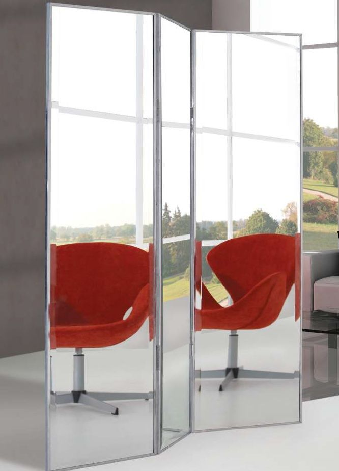 Mirrored Three Panel Room Divider LRG FalakParavnok Pinterest